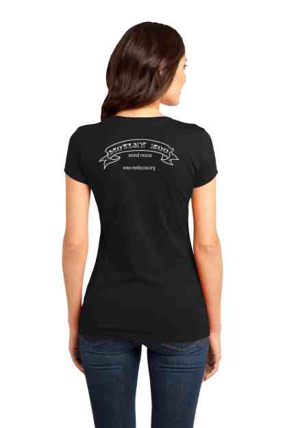 women shirt back motley zoo animal rescue bydfault