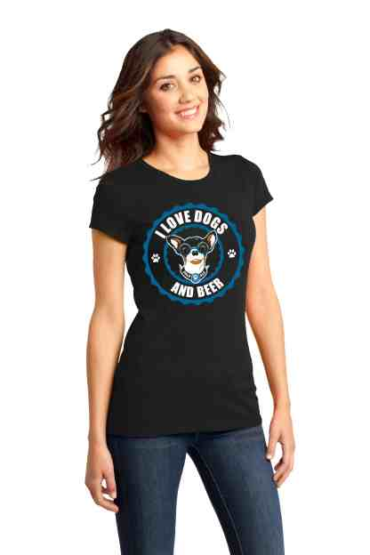 LOVE DOGS AND BEER WOMEN FRONT CREW