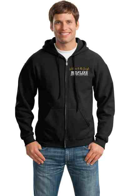 Claws N roses left chest hoodie front model