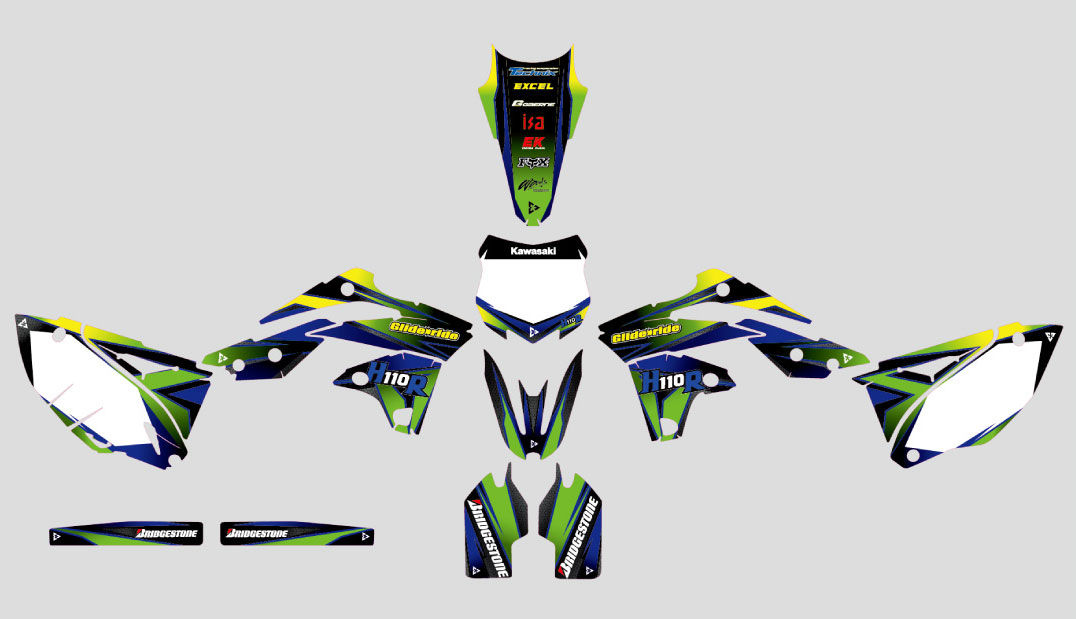 KAWASAKI KX450  Graphic Decal Design