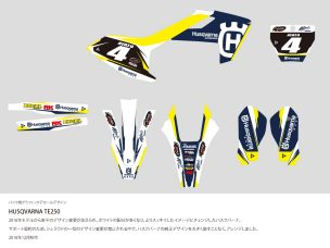 HUSQVARNA TE250 Graphic Decal Design