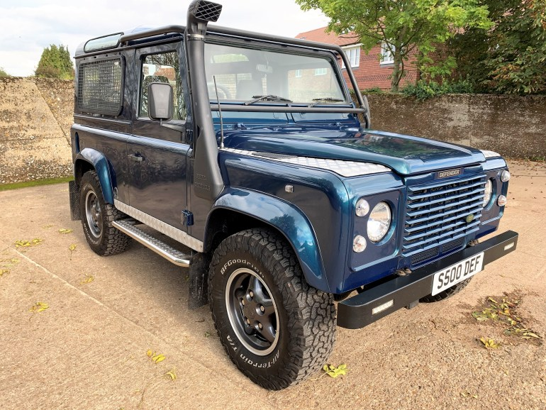 land rover defender 90 50th anniversary 4.0V8 auto for sale at motodrome