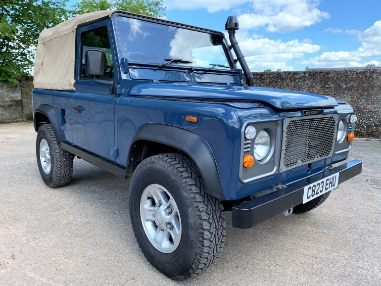 land rover 90 soft top galvanised chassis 300tdi power for sale at motodrome