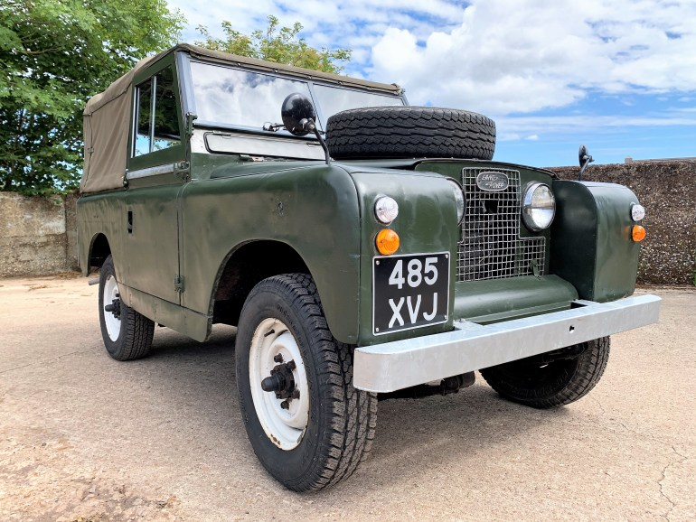 land rover series IIa 88in soft top for sale at motodrome