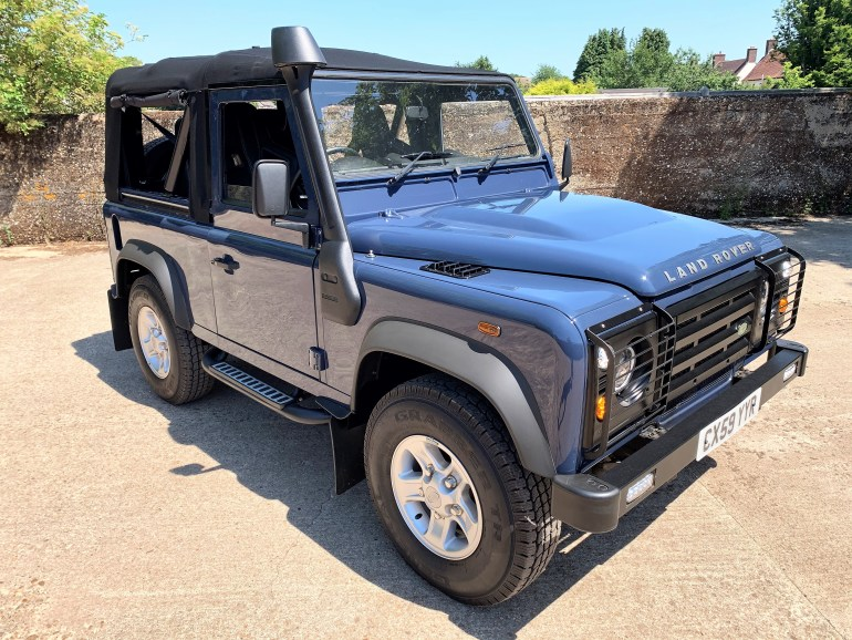 DEFENDER 90 tdcI SOFT TOP FOR SALE AT MOTODROME