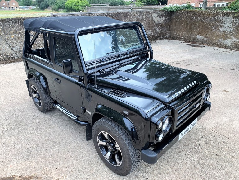 2009 land rover Defender 90 TDCi SVX Soft top with upgrades inc Stage 2 tune FOR SALE AT MOTODROME