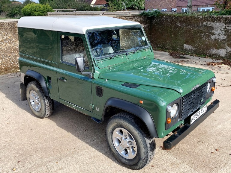 1995 land rover Defender 90 300TDi Hardtop 1 owner since 2001 £8995 for sale at motodrome