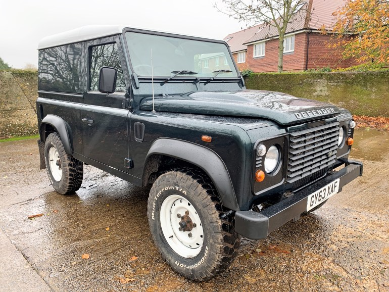 2014 Land Rover Defender 90 2.2TDCi hardtop one private owner from new for sale at motodrome£19995
