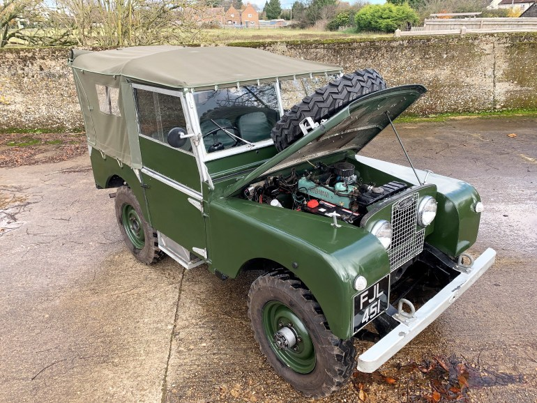 1953 LAND ROVER SERIES ONE 80 INCH 2.25 PETROL £19995 FOR SALE AT MOTODROME