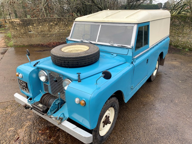 1962 LAND ROVER Series IIa 109 2.25 petrol hardtop FOR SALE AT MOTODROME the classic land rover specialist