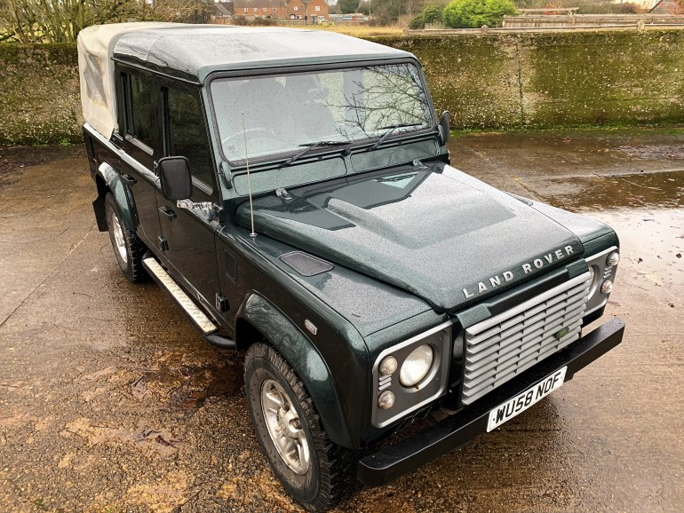 2008/58 LAND ROVER DEFENDER 110 TDCi XS DOUBLECAB £19995 FOR SALE AT MOTODROME THE CLASSIC LAND ROVER SPECIALISTS