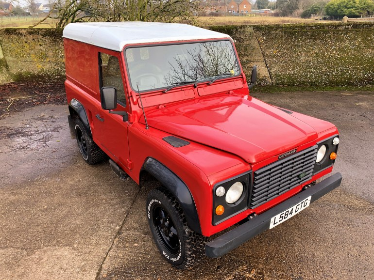 1993/L LAND ROVER DEFENDER 90 200TDi HARDTOP £10995 FOR SALE AT MOTODROME THE CLASSIC LAND ROVER SPECIALISTS