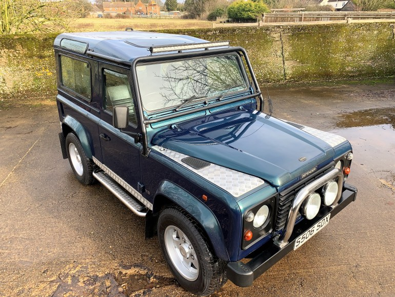 1998 Overfinch Land Rover Defender 90 50th anniversary 460i auto for sale at Motodrome the classic land rover specialist