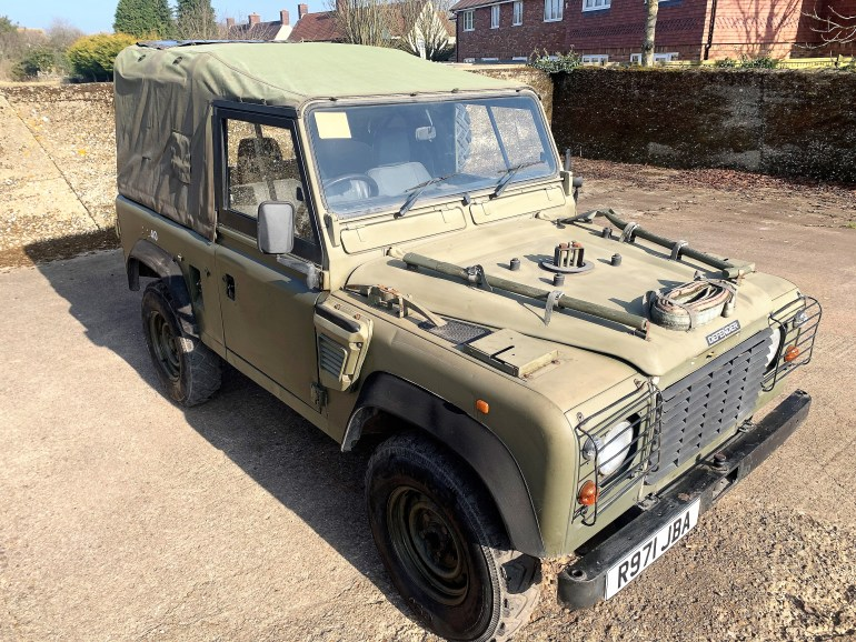 1998 DEFENDER 90 300TDI WOLF SOFT TOP FOR SALE AT MOTODROME THE CLASSIC LAND ROVER SPECIALIST.
