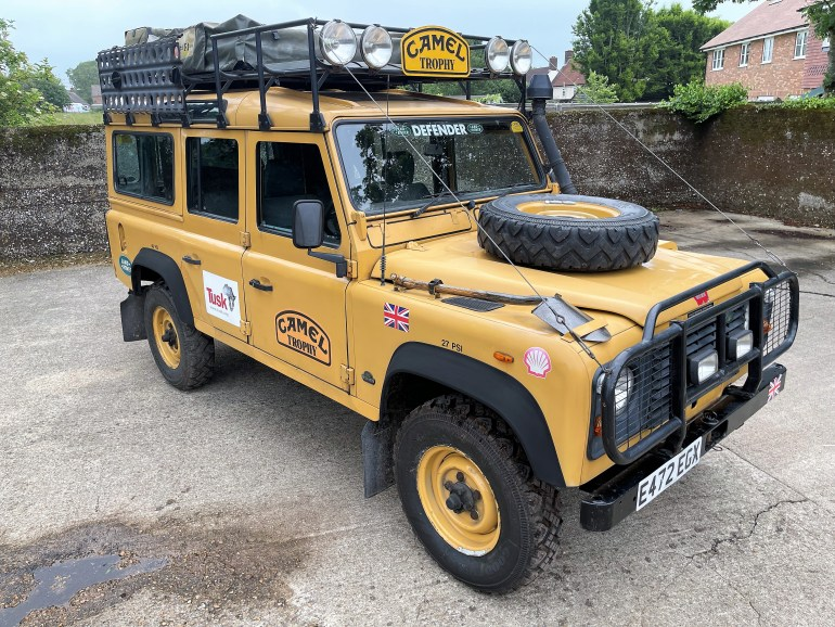 1988 Land Rover 110 Camel Trophy Replica with 300TDi power for sale at motodrome