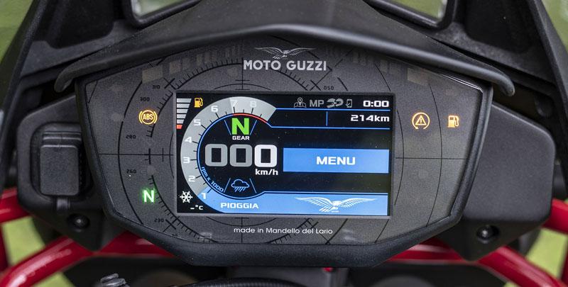 Moto Guzzi V85 TT - wyświetlacz