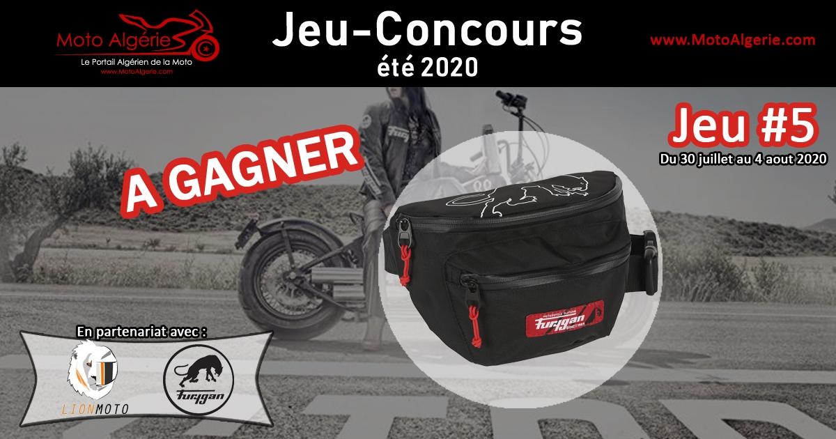 Jeu-Concours été 2020 – JEU#5 : Un sac banane à gagner, avec Furygan Algérie!