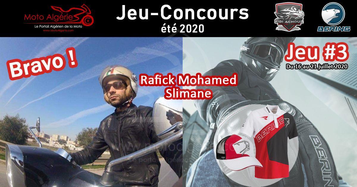 JEU-CONCOURS Moto Algérie – été 2020 : gagnant du JEU#3 avec Bering Algérie !