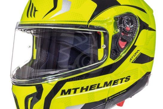 MT Helmets ATOM SV Divergence F1 GLOSS FLUOR YELLOW