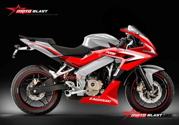 P200NS-RED custom body fullfairing-1