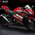 modif striping kawasaki ninja 250r FI red5