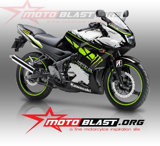ninja 150 R BLACK monster energy