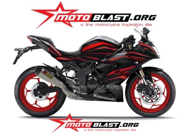 ninja 250 RR mono BLACK TRIBAL2