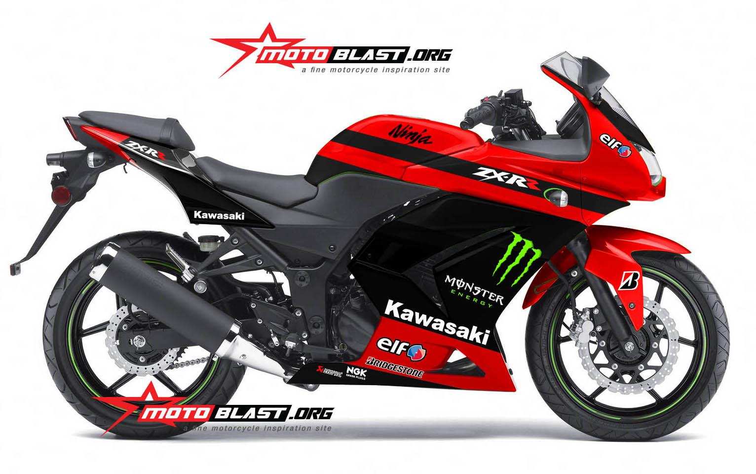 Modif Striping Kawasaki Ninja 250r Karbu Merah Motoblast