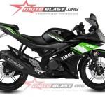modif striping yamaha R15 - black green3
