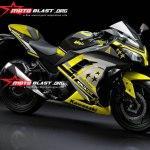 modif striping kawasaki ninja 250r FI BLACK-YELLOW-star1