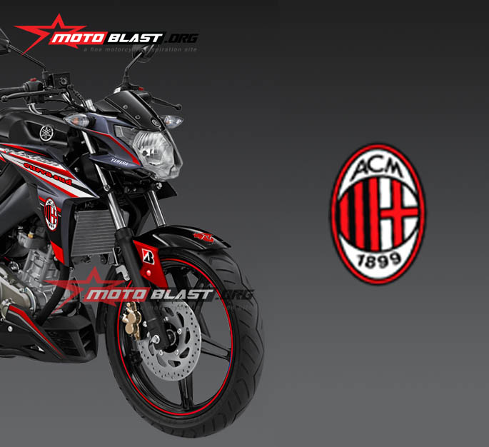 Modif Striping Yamaha New Vixion Advance 2015 Black Acmilan