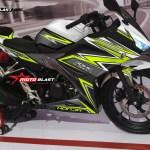 modifikasi Honda All new CBR150R black white super thunder motoblast