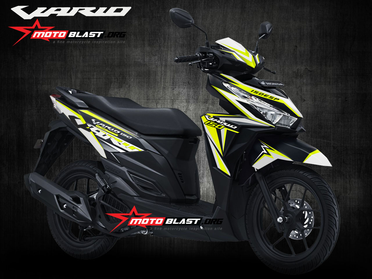 Modifikasi Honda Vario 150esp Black Fresh