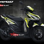 Inspirasi modifikasi Graphic kit VARIO 150 BLACK Fresh WHITE green sporty