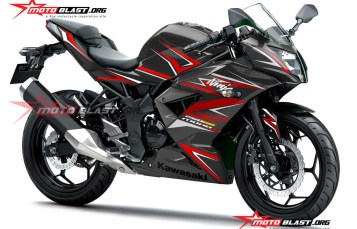 Graphic Kit Kawasaki Ninja RR Mono Black Thunder