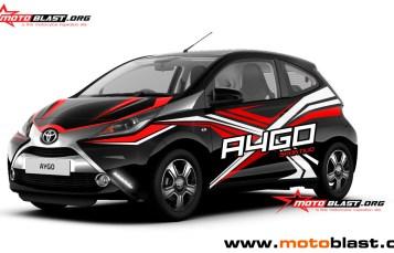 Graphic Kit Car Series Toyota Aygo Black sportivo extreme