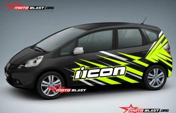 Graphic Kit Car Series Honda Jazz Black ICON