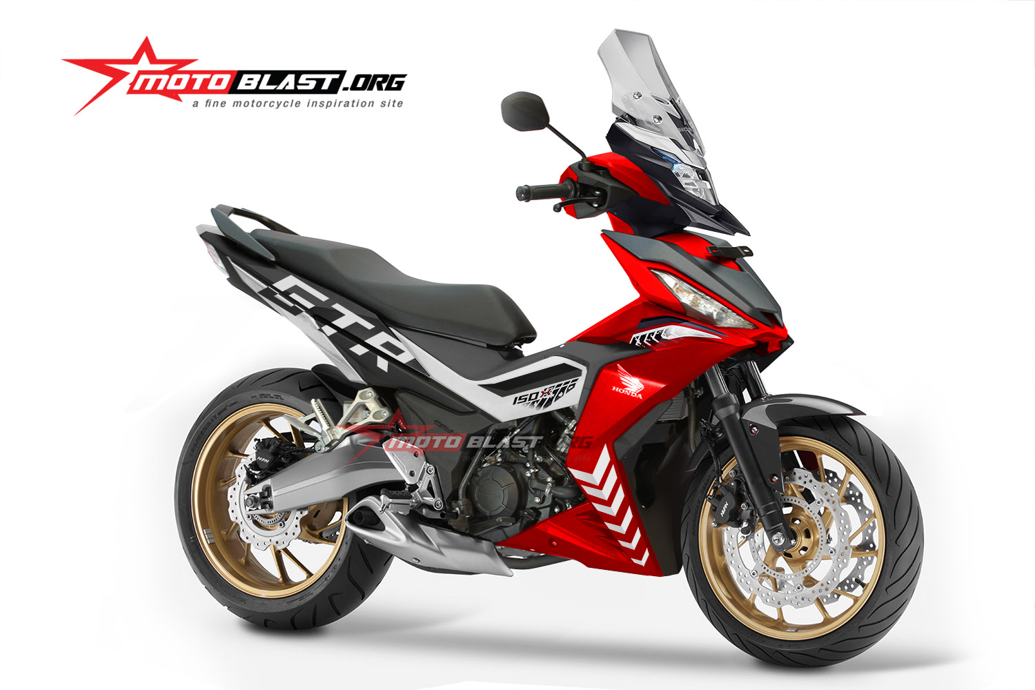 Modifikasi Super Kekar Bebek Adventure Supra GTR150 MOTOBLAST