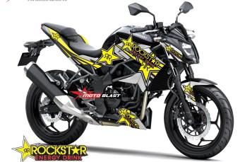Graphic Kit Kawasaki Z250SL Black Rockstar