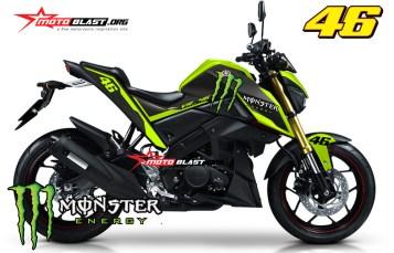Modifikasi Yamaha Xabre Black Monster VR 46