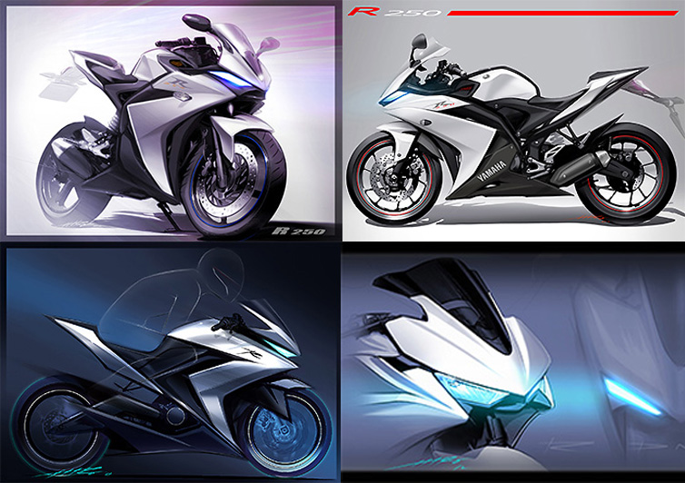 gambar illustrasi All new Yamaha YZF R25