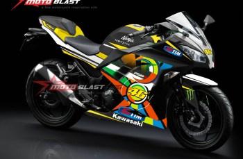 Modifikasi Motor Terbaru Ninja 250R Fi Black striping Sun Moon