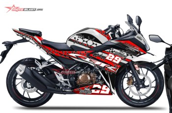 Modifikasi Striping All New CBR150r White Vendetta Red version