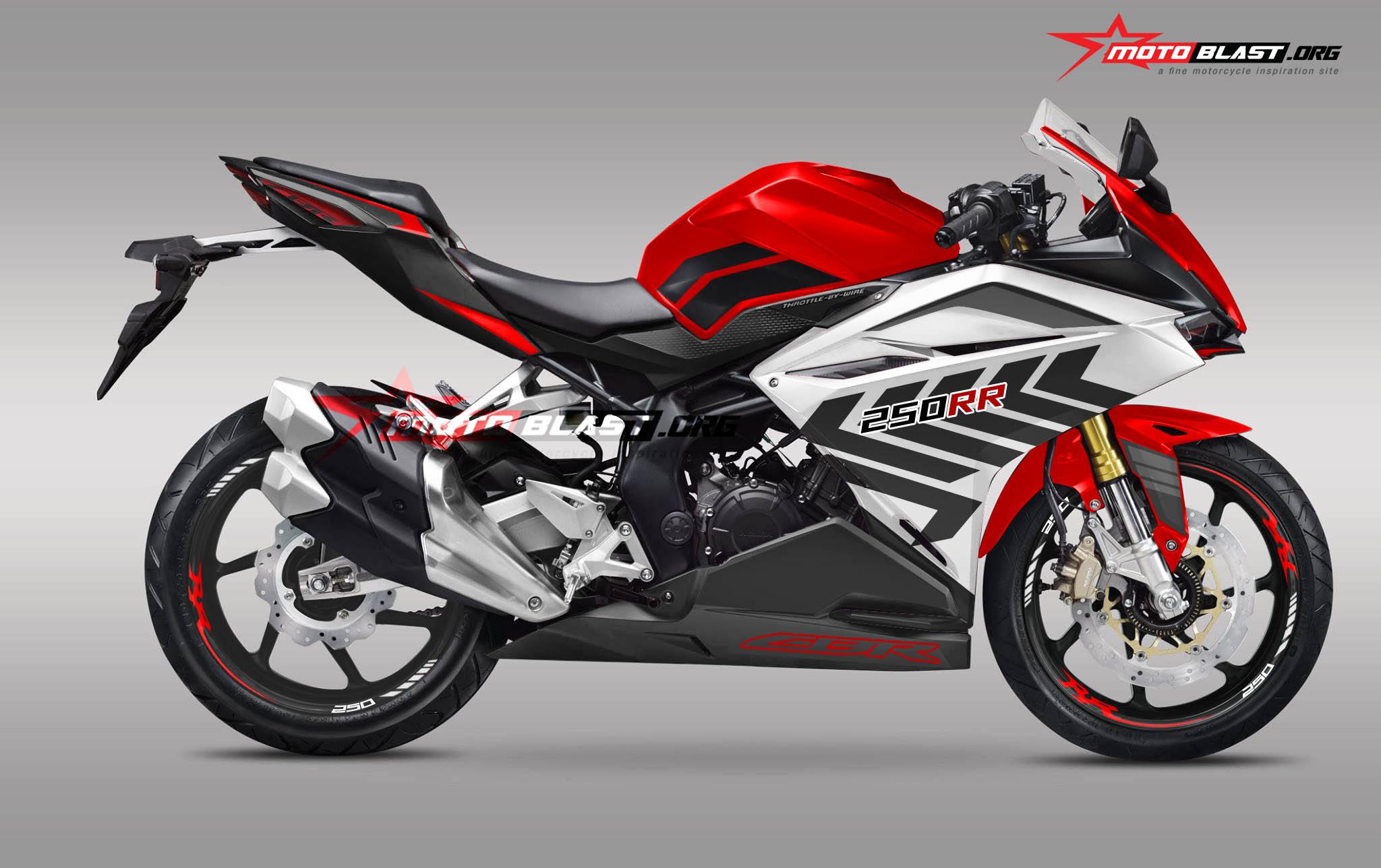 Modifikasi Striping Honda CBR250RR RWB Style MOTOBLAST