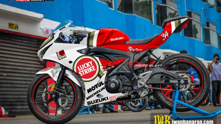 GSX-R150 - RED WHITE LUCKY STRIKE