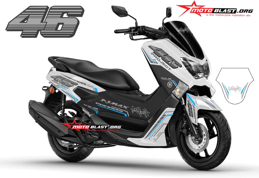 Inspirasi Modifikasi Striping Yamaha Nmax Warna Putih Motoblast
