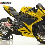 2 CBR250RR BLACK MV AGUSTA AMG YELLOW