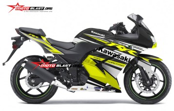 Modifikasi Striping Kawasaki Ninja 250R Karbu Black Yellow RC