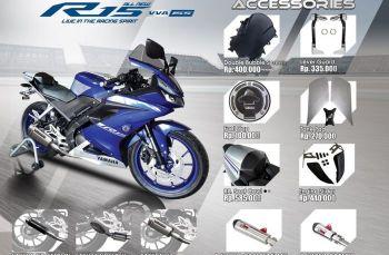 Ini dia Daftar Harga asesoris resmi untuk All New Yamaha R15 V3 VVa