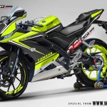 R15 NEW 2017- BLACK DUCATI TRICOLOR GREEN LIME